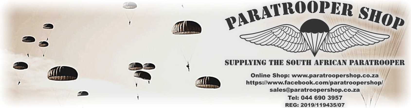 Paratrooper Shop. Supplying the South African Paratrooper